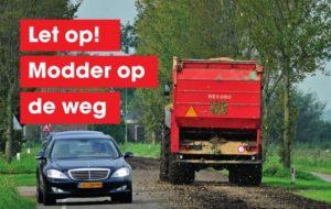 Provincie Zuid-Holland start campagne 'Modder op de weg'